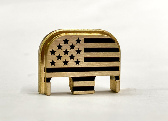 Brass American Flag