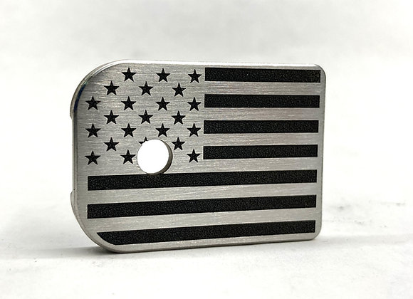 American Flag Mag Plate Stainless Steel