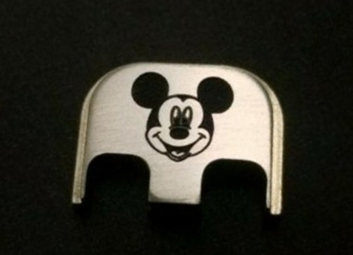 Mickey Mouse - back plates stainless steel