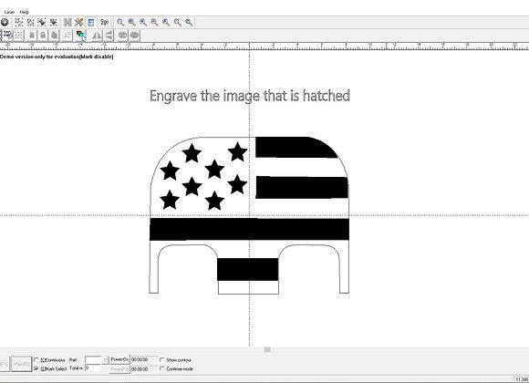 American Flag Regular Backplate Ez Cad File