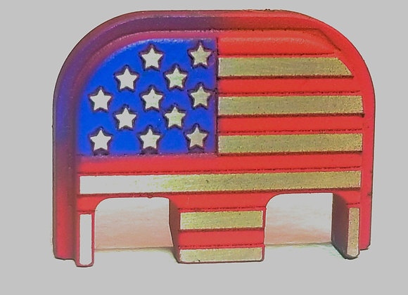 Stainless Steel Colored American Flag