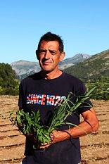 Joan & his herbs.JPG