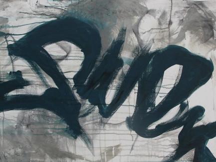 """""""Scrawl""""   2'x3' acrylic on canvas"""
