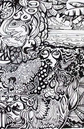 "Let it all go 1 | 24""x36"" pen & ink print"