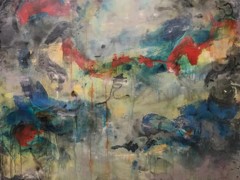 """Light emerges"" | 5'x4' acrylic on canvas"