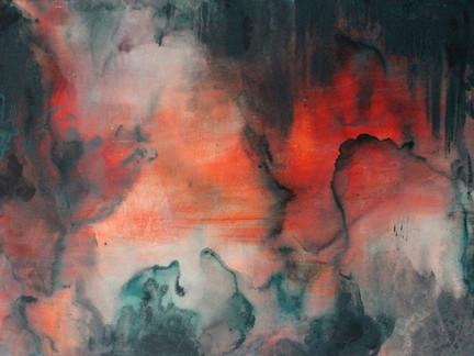 """""""Smolder""""   3'x4' acrylic on canvas"""