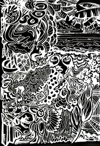 "Let it all go 2 | 24""x36"" pen & ink print"