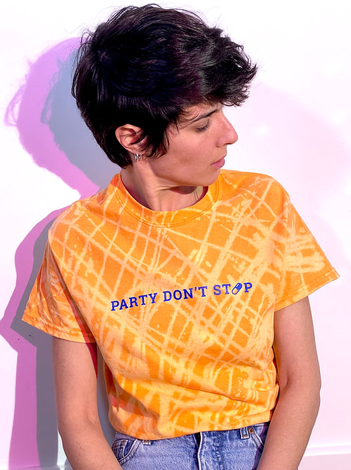 Party Don't Stop Hand Bleached T-Shirt