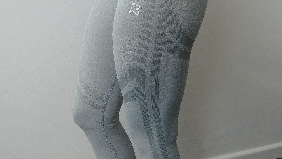 Grey Marl Seamless Scrunch Leggings