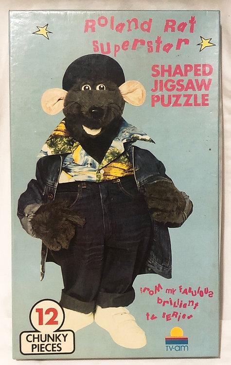 Roland Rat Superstar Shaped Jigsaw Puzzle Set TV-AM 1983
