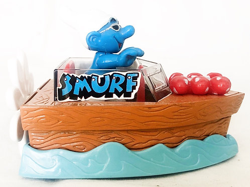 The Smurfs Die-Cast Speed Boat Toy Island 1996