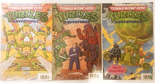 Teenage Mutant Hero Turtles Adventures Comic Set