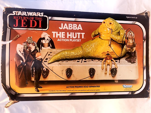 Vintage Star Wars ROTJ Jabba The Hutt Action Playset