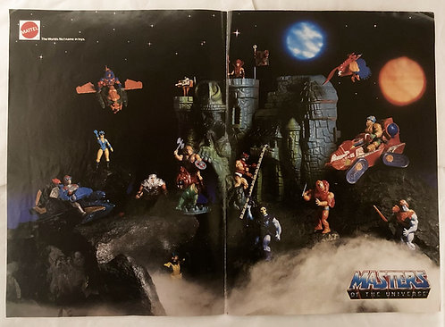 He-Man Masters Of The Universe Double Sided Poster Mattel 1987