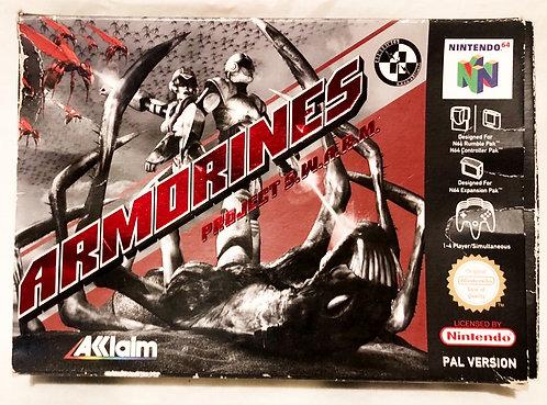 Armorines Project S.W.A.R.M. Nintendo 64 U.K. (PAL)
