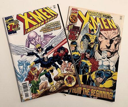 X-Men The Hidden Years 1# And Professor Xavier And The X-Men 1# comics