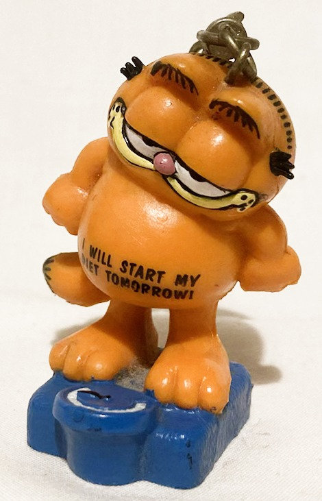 Garfield Diet Tomorrow Key Ring Bully West Germany 1980 (B)