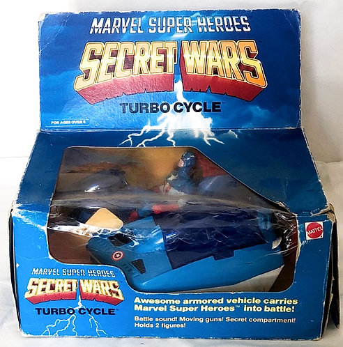 Captain America Secret Wars Turbo Cycle And Figure Mattel 1984