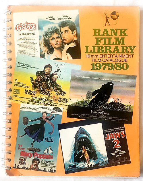 Rank Film Library 16mm Entertainmentr Film Catalogue 1979/1980