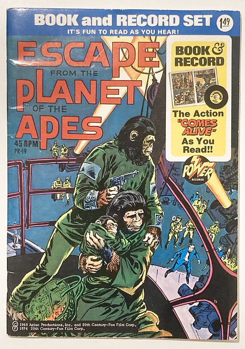 Escape From The Planet Of The Apes Book And Record Set Power Records 1974