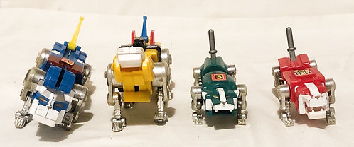 "Voltron Pull Back Motorized 7"" Lions Set LJN 1984"