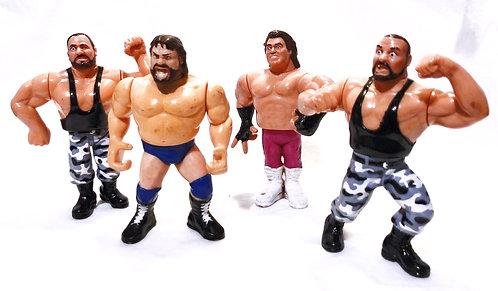 Vintage WWF Action Figure Set x4