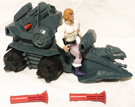 Vintage He-Man And The Masters Of The Universe Prince Adam And Battle Ram (O)