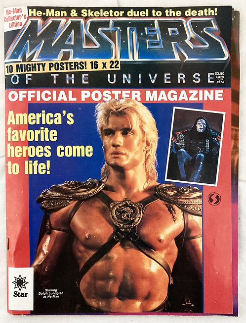 He-Man Masters Of The Universe Movie Poster 5 Magazine 1983