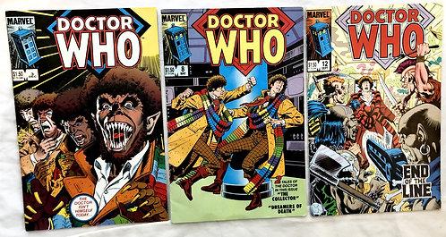 Doctor Who Marvel Comic Set #3 #8 #12