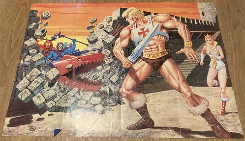 He-Man And The Masters Of The Universe Giant Poster Magazine1987