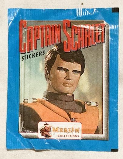 Captain Scarlet Stickers Merlin 1993