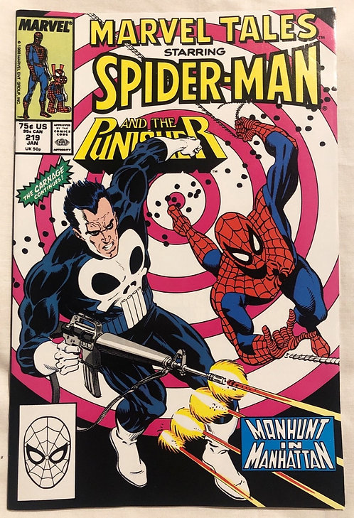 Marvel Tales Starring Spider-Man And Punisher No 219 January 1988