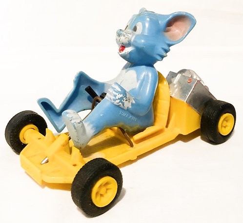 Tom and Jerry Friction Drive Go-Kart Marx Toys. 1973
