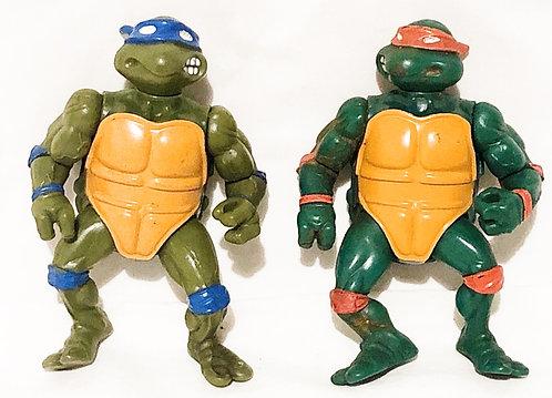 Teenage Mutant Hero Turtles Set Playmates 1988 (B)