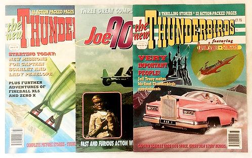 Thunderbirds And Joe 90 U.K. Comics Set