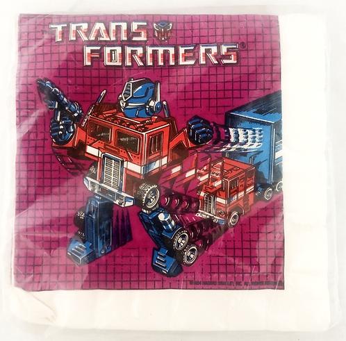 Transformers 16 Luncheon Napkins Unique 1984