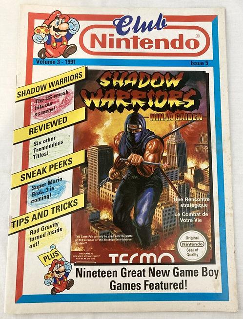 Club Nintendo Magazine Volume 3 Issue 5 (UK version) 1991