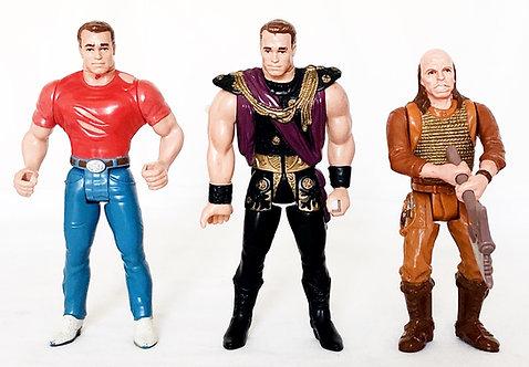 Last Action Hero Figure Set Arnold Schwarzenegger Mattel 1993