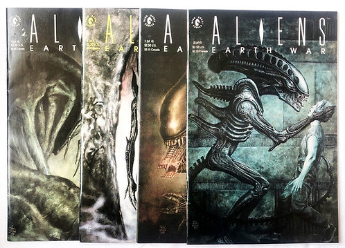 Aliens Earth Wars No1 - No4 Comic Set Dark Horse 1990