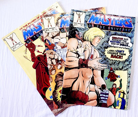 He-Man And The Masters Of The Universe Comic Set No. 55 56 57 1988