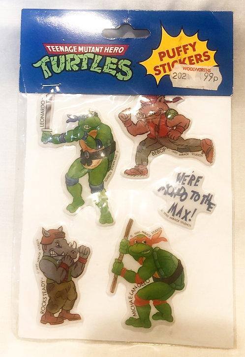 Teenage Mutant Hero Turtles Puffy Stickers 1988