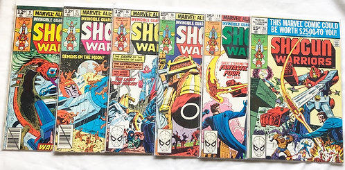 Shogun Warriors Comic Set #9 #13 #16 #18 #19 #20