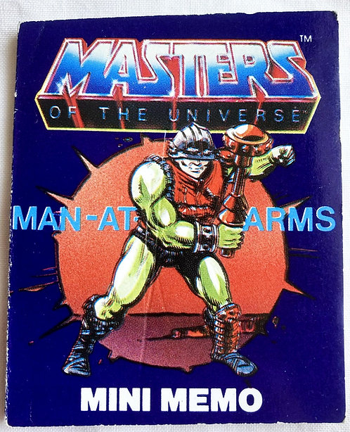 He-Man And The Masters Of The Universe Fan Club Man-At-Arms Mini Memo 7cm 1984