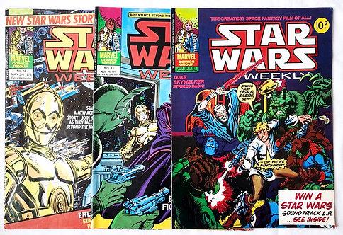 Vintage Star Wars Comic Set Marvel U.K. 1978