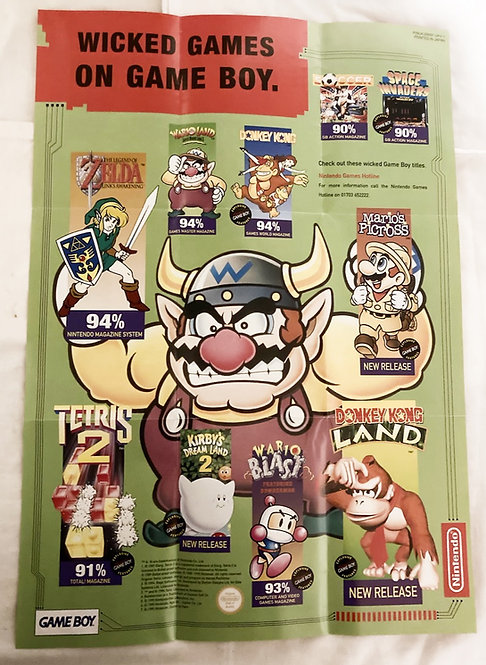 Nintendo Super Nintendo / Game Boy Game Poster UKV-3
