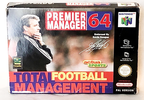 Premier Manager 64 Nintendo 64 U.K. (PAL)