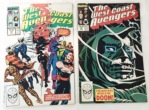 The West Coast Avengers Comic Set 1988