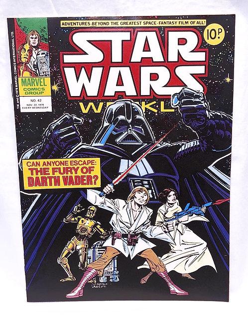 Vintage Star Wars Comic No. 42 (UK)