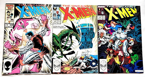Marvel The Uncanny X-Men Comic Set #209 #235 #233