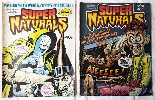 Super Naturals Comic Set #4 And #9 Set
